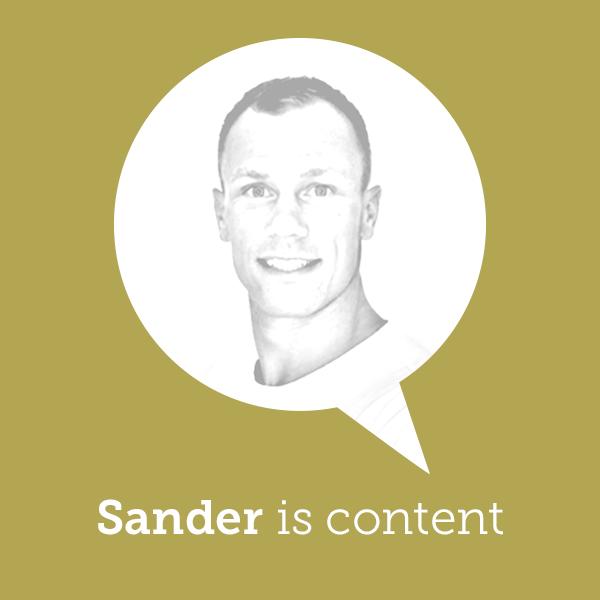 Sander is content!