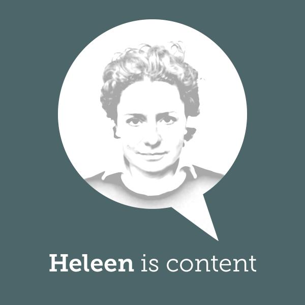 Heleen is content!